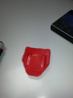 fertig gedruckt, mit automatisch erzeugten Supports