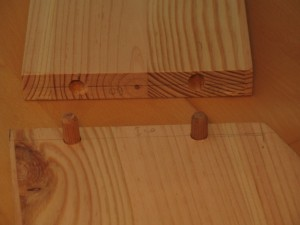 Holzdübel zur Verbindung