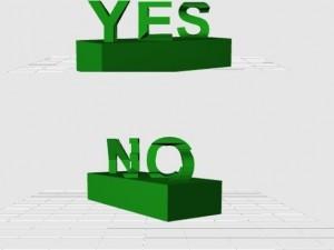 Yes/No-Ilusion als virtuelle Vorschau.